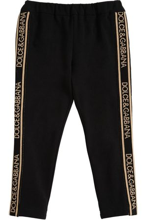 Dolce & Gabbana Cotton Interlock Leggings W/ Logo Bands