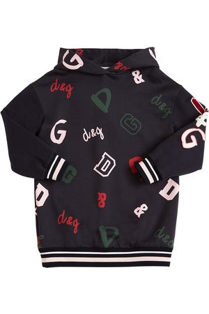 Dolce & Gabbana Logo Sweatshirt Dress W/ Patches