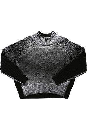 Diesel Color Block Knit Wool Blend Sweater