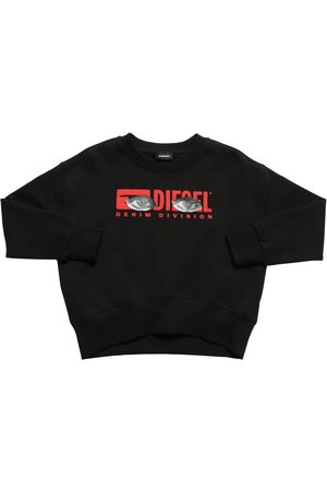 Diesel Logo Print Cotton Sweatshirt