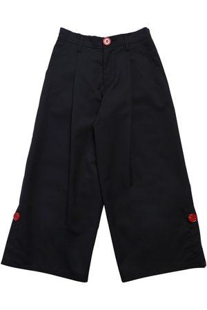 Marni Wide Leg Wool Blend Pants