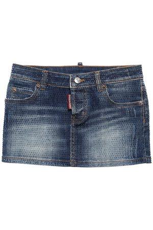 Dsquared2 Embellished Stretch Cotton Skirt
