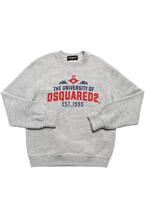 Dsquared2 Boys Sweatshirts - University Printed Cotton Sweatshirt