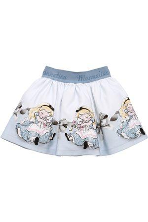 MONNALISA Alice Print Neoprene Skirt