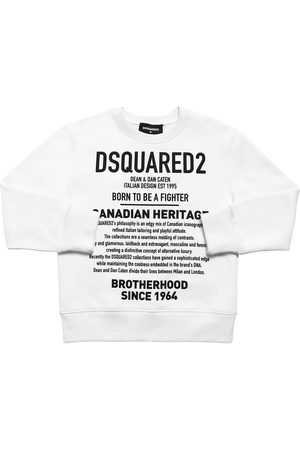 Dsquared2 Boys Sweatshirts - Heritage Printed Cotton Sweatshirt