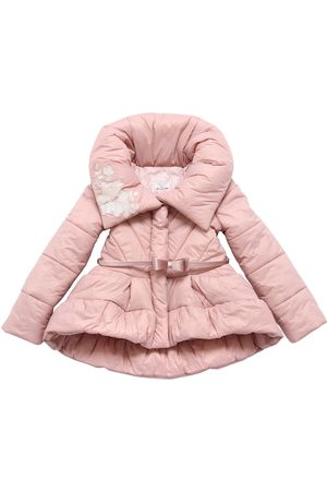 MONNALISA Girls Belts - Nylon Down Jacket W/ Belt