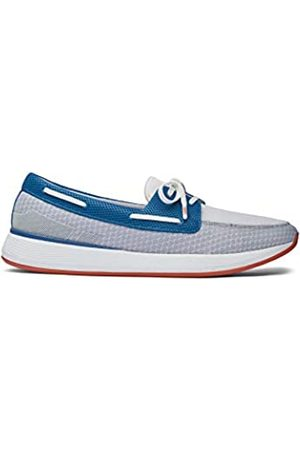 Swims Men's Breeze Wave Boat Moccasins, (Alloy/Seaport 686)