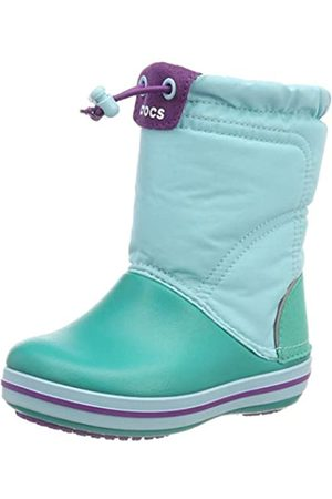 Crocs Unisex Babies' Crocband LodgePoint Boot Kids Snow, (Ice /Tropical Teal)