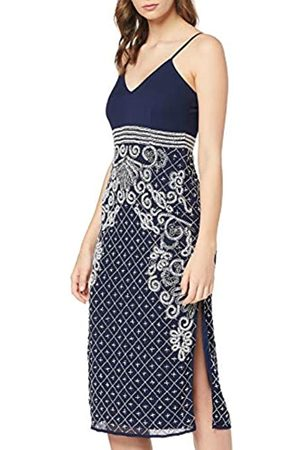 Frock and Frill Women's Frances cami midi Dress with Embellished Pencil Skirt Party