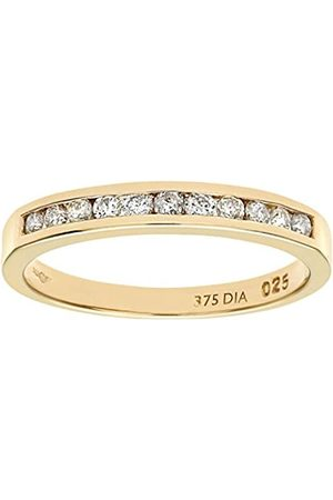 Naava 9 ct Yellow Diamond Channel Set Eternity Women's Ring