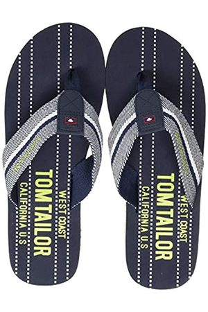TOM TAILOR Men's 8081602 Flip Flops, (Navy- -neon 02663)