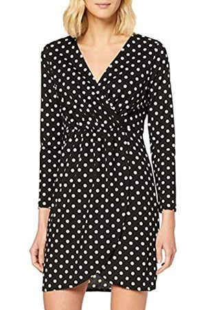 Mela Women's Polka Dot Wrap Front Dress Casual