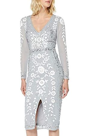 Frock and Frill Women's Harper Embellished V-Neck Midi Dress Party