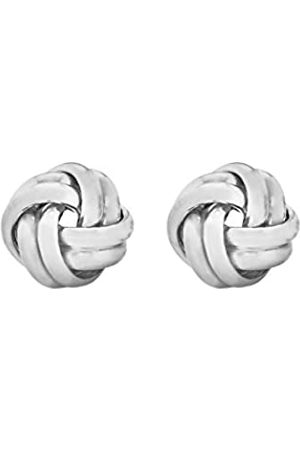Tuscany Silver Sterling Knot Stud Earrings