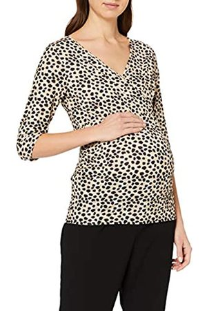 Dorothy Perkins Women's Maternity Nursing Non Print Ruch Wrap Top Blouse