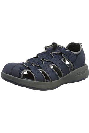 Skechers Men's MELBO- Journeyman 2 Gladiator Sandals, (Navy Nvgy)
