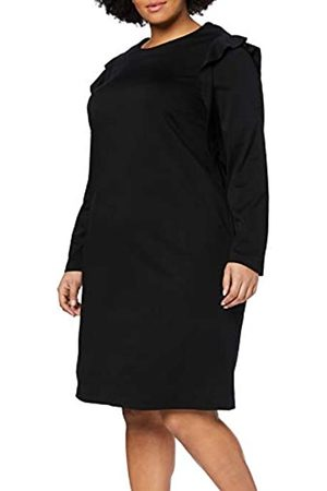 Ulla Popken Large Size Ladies Dress Punto Dress, Flounces ( 10)
