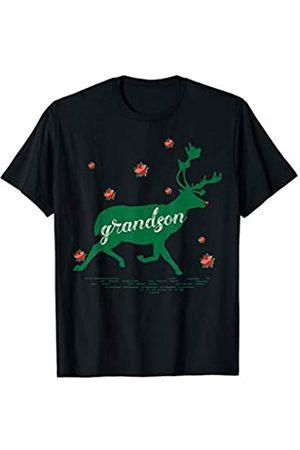Funny Reindeer Family Shirts Reindeer Grandson Christmas Family Matching Pajamas T-Shirt
