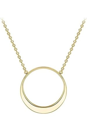Carissima Gold 9 ct Gold Eclipse Adjustable Necklace of Length 41-43 cm