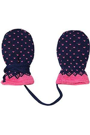 maximo Baby Girls' Ohne Daumen mit Pünktchenmuster Gloves