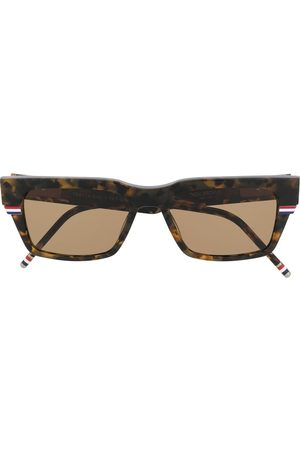 Thom Browne Wrap-around rectangle sunglasses