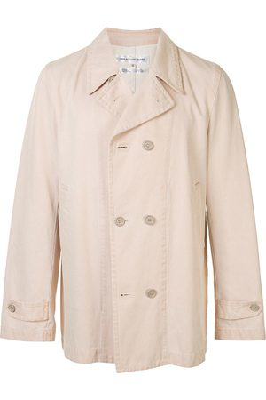 Comme des Garçons Double-breasted metallic twill jacket - Neutrals