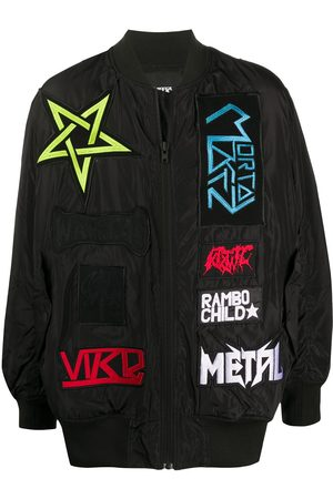 KTZ Contrasting patch bomber jacket