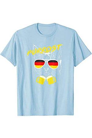 BUBL TEES Purrost Beer Drinking Cat Oktoberfest T-Shirt