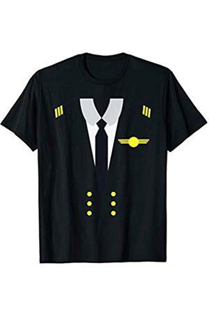 Dream Job Uniforms Co Airplane Aviation Pilot Uniform Halloween Costume Dress Up T-Shirt