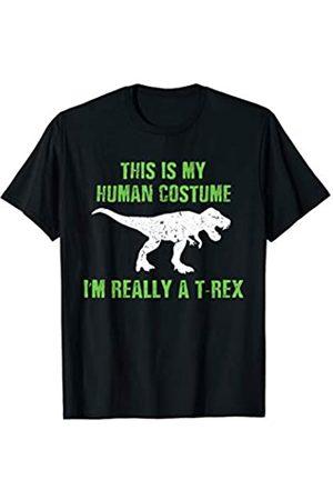 BUBL TEES I'm Really A T Rex Dinosaur Costume Halloween T-Shirt