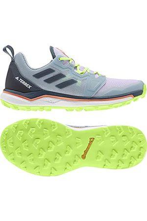 adidas Women's Terrex Agravic W Track Shoe, Tint/Legacy /Signal