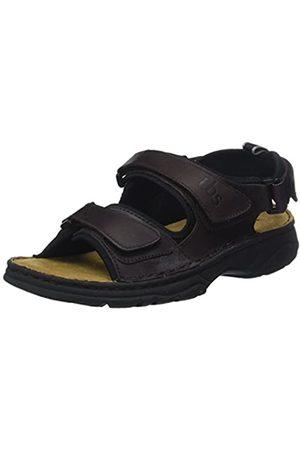 TBS Men's Requin Open Toe Sandals, (Marron 005)