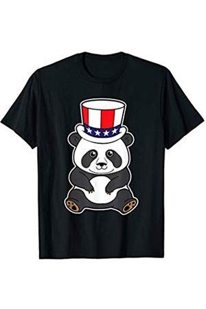 BCC Patriotic Shirts & 4th of July Gifts Patriotic Panda Bear Uncle Sam Hat USA Merica 4th of July T-Shirt