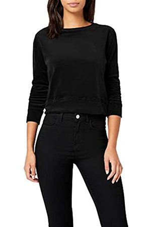 Urban classics Women's Ladies Short Velvet Crew Sweatshirt