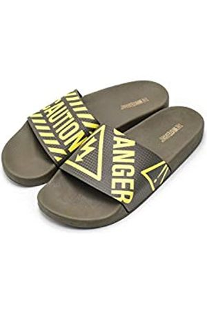 THE WHITE BRAND Men's Danger Open Toe Sandals, (Army Army)