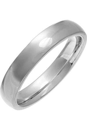 THEIA Unisex Super Heavy 4 mm Court Shape Wedding Ring - V