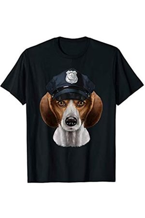 Fox Republic T-Shirts Beagle Dog in Police Officer Hat T-Shirt