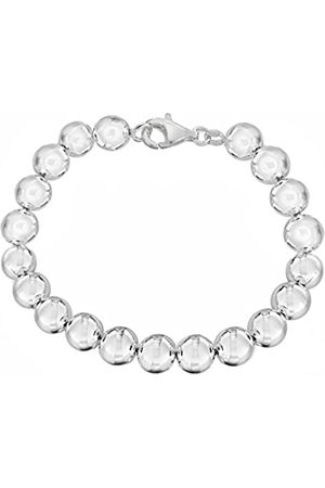 Tuscany Silver Women's Sterling 8 mm Polished Ball Bracelet of Length 19 cm/7.5 Inch