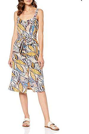 FIND Amazon Brand - Women's Midi Linen A-Line Dress, 12