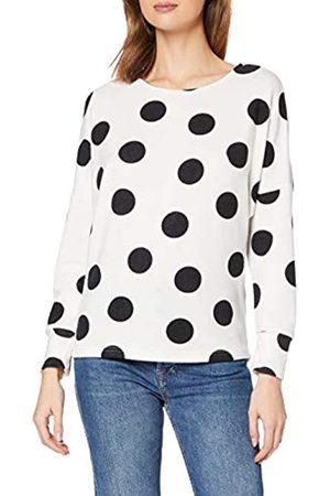 Dorothy Perkins Women's Cream Batwing Spot Print Brushed Top T-Shirt