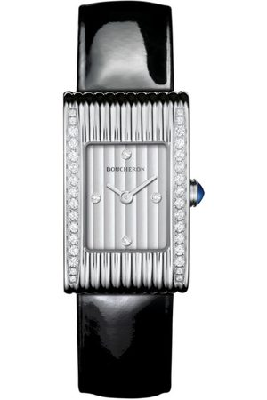 Boucheron Stainless Steel and Diamond Reflet Watch 18mm
