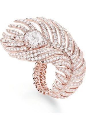 Boucheron Rose Gold Plume de Paon Ring