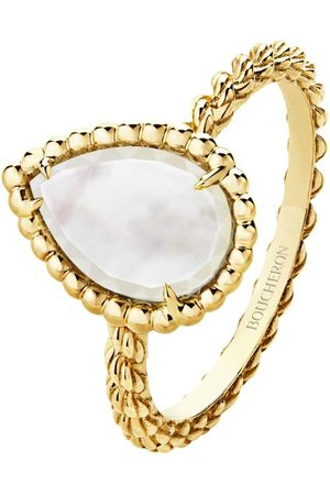 Boucheron Yellow Gold Mother of Pearl Serpent Bohème Ring