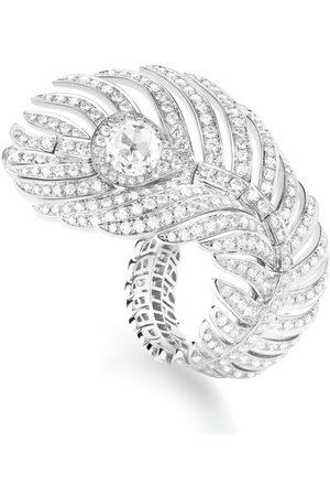 Boucheron White Gold and Diamonds Plume de Paon Ring