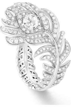 Boucheron White Gold and Diamond Plume de Paon Ring