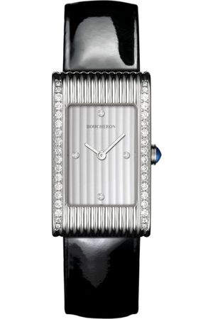 Boucheron Stainless Steel and Diamond Reflet Watch 21mm