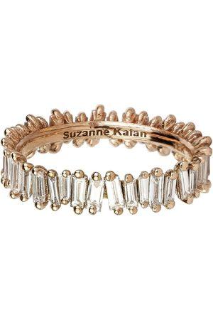 Suzanne Kalan Rose Gold Baguette Diamond Ring