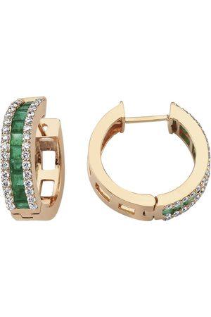 BEE GODDESS Women Earrings - Rose Gold and Emerald Mondrian Earrings