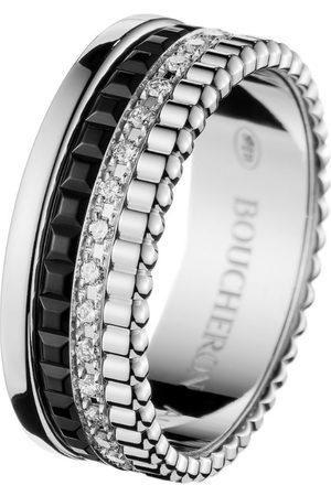 Boucheron White Gold and Diamond Quatre Black Edition Ring