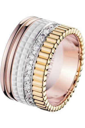 Boucheron Mixed Gold Quatre White Edition Large Ring